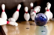 Hitting a bowling strike