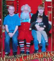 Sam, Santa, Will, Felix - 2013