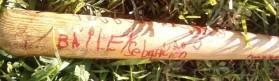 autographed bat